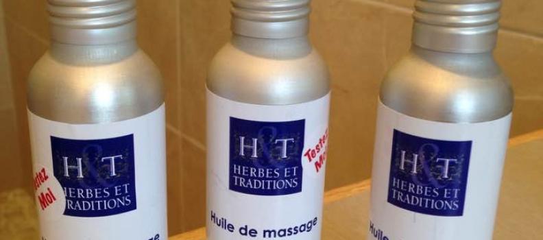 Les huiles de massages H&T sont arrivées pour vos auto-massages à l'instant du papillon